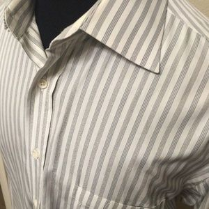 CANALI Men's Shirt Size 16.5 Striped Long Sleeve